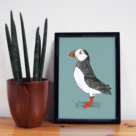 Puffin Billy Print Green