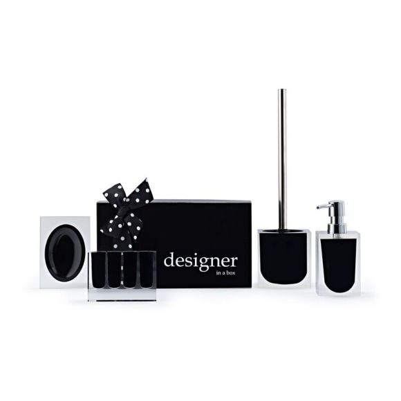 The complete Lucid Collection, Toothbrush holder, soap dish and lotion dispenser