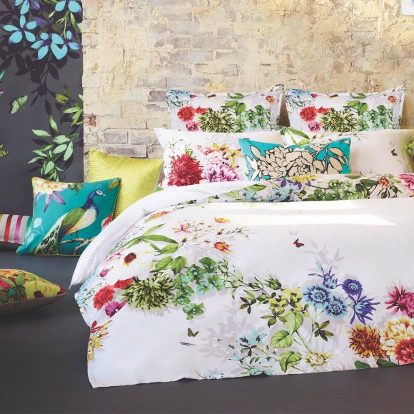 Tropicana White Quilt Cover Set