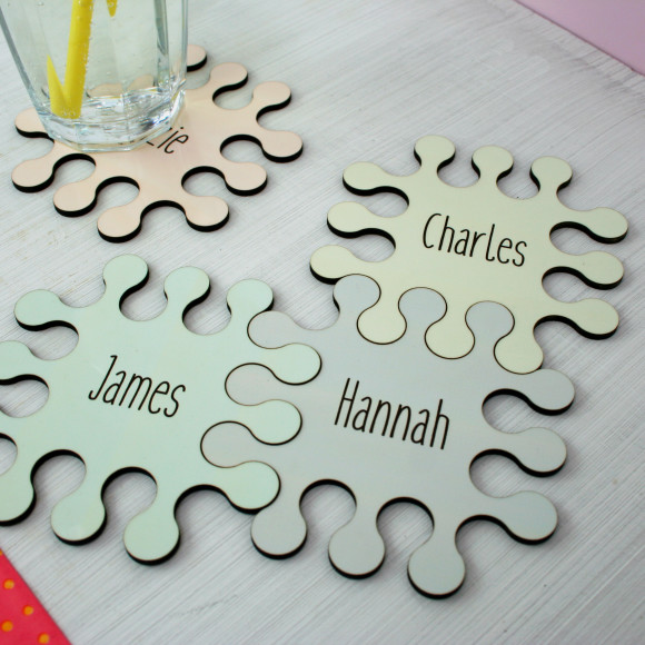 Personalised coaster set