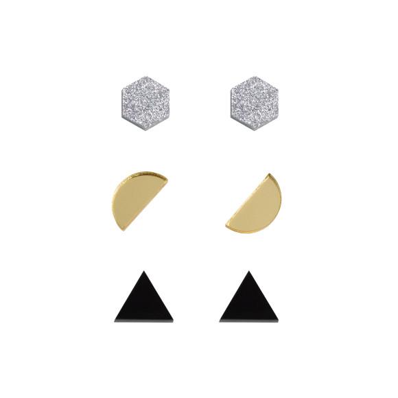 Silver Glitter / Gold / Black