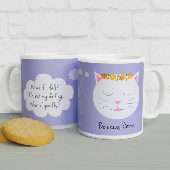 'What If I Fall?' quote mug Lilac