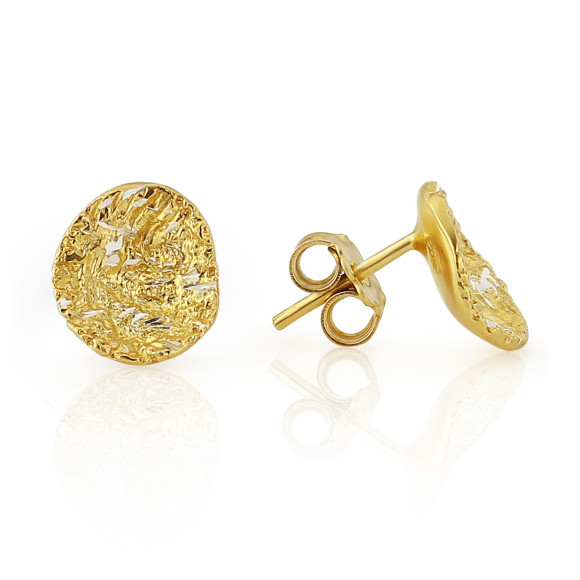 Elena Diamond Cut Gold Vermeil Earrings