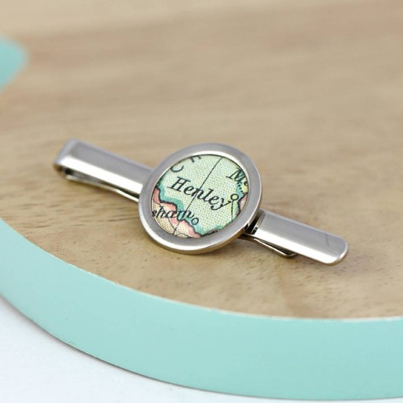 Personalised Map Tie Clip