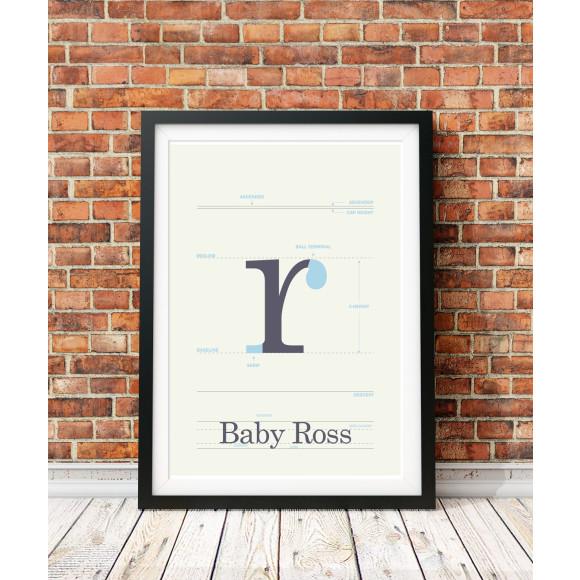 Custom baby print