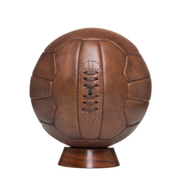 Vintage style leather 18 panel football