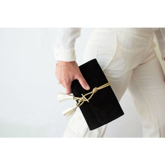 100% Suede Leather Clutch
