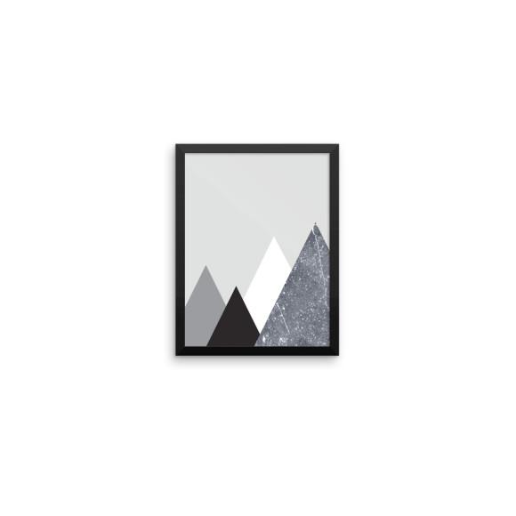 Mountain Marble Art Print 1