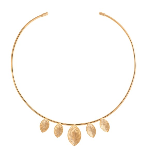 Hissia gold Shield choker