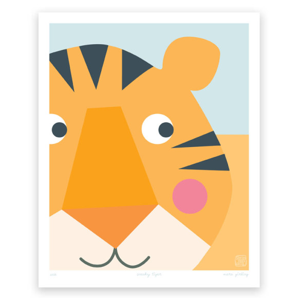 Sneaky Tiger Art Print