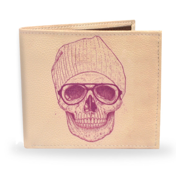 Cool Skull Vegan Leather Mens Wallet