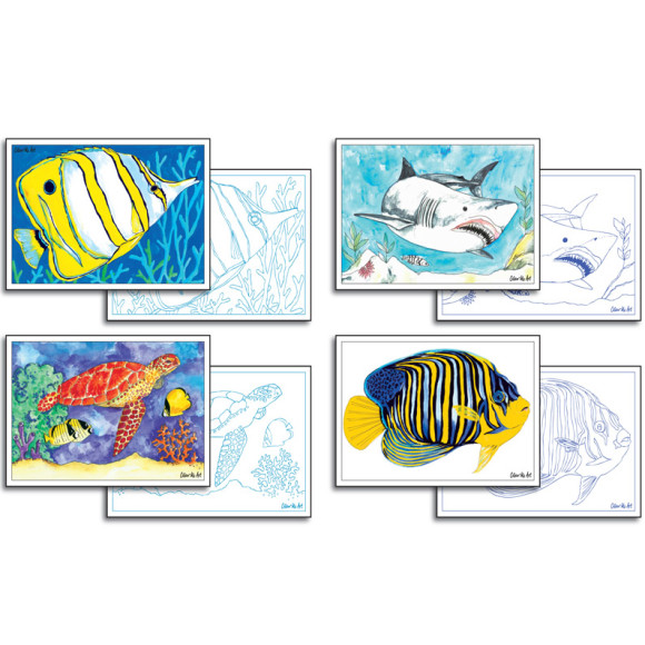 Reef Colouring Cards