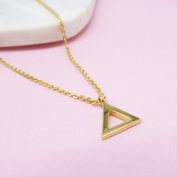 Triangle Necklace gold plated