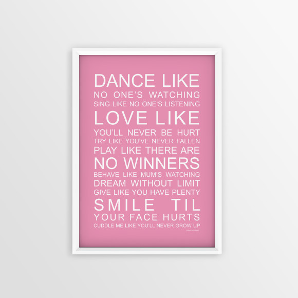 Family Wishes Print in Pink