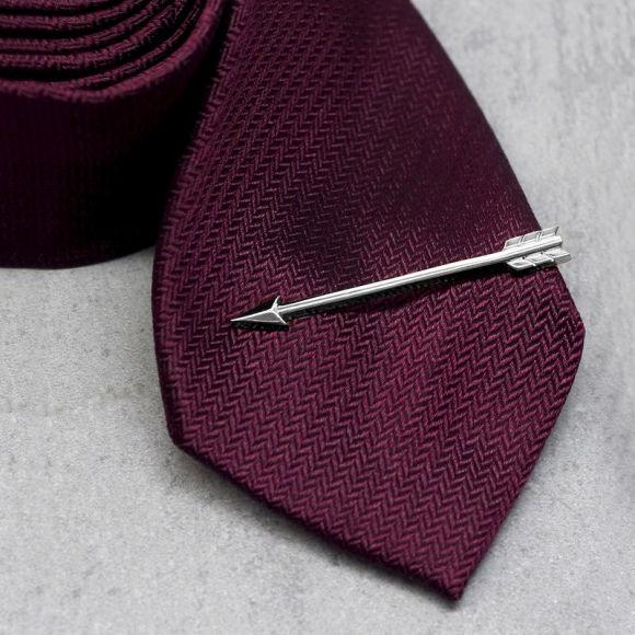 silver arrow tie clip