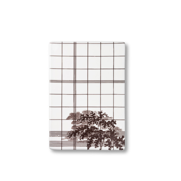 Ruth M Squares design plate in brown