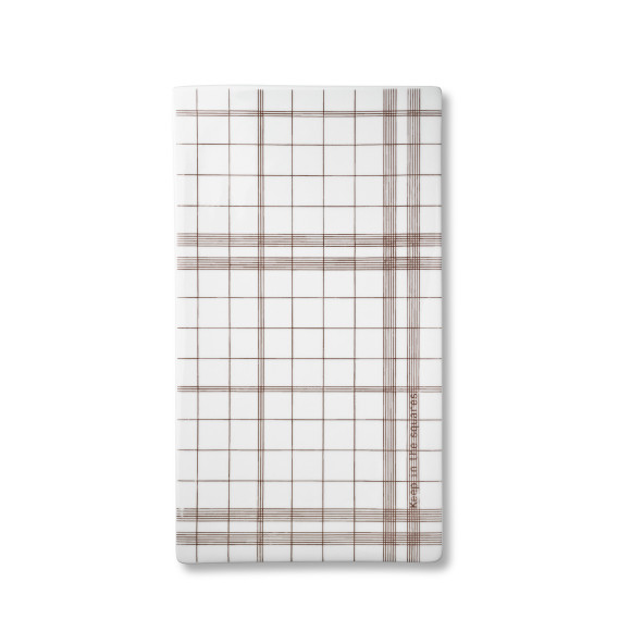 Brown tile plate