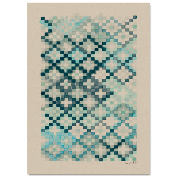 Patina Blue 50x70cm