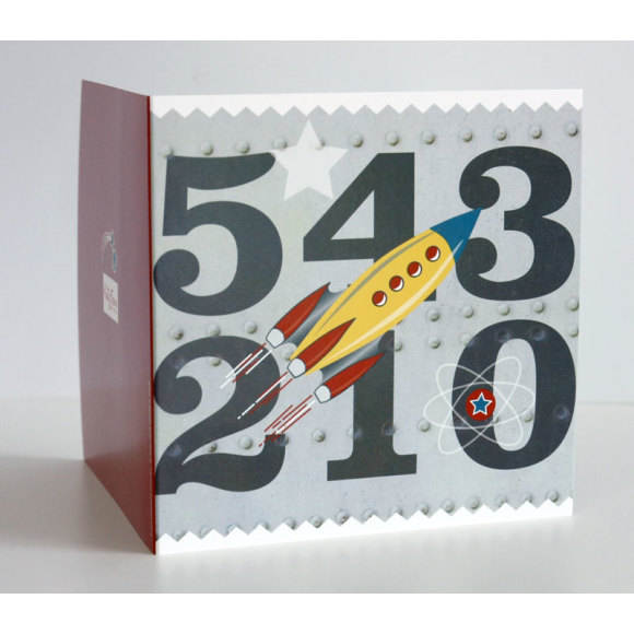 Boys Rocket Birthday Card