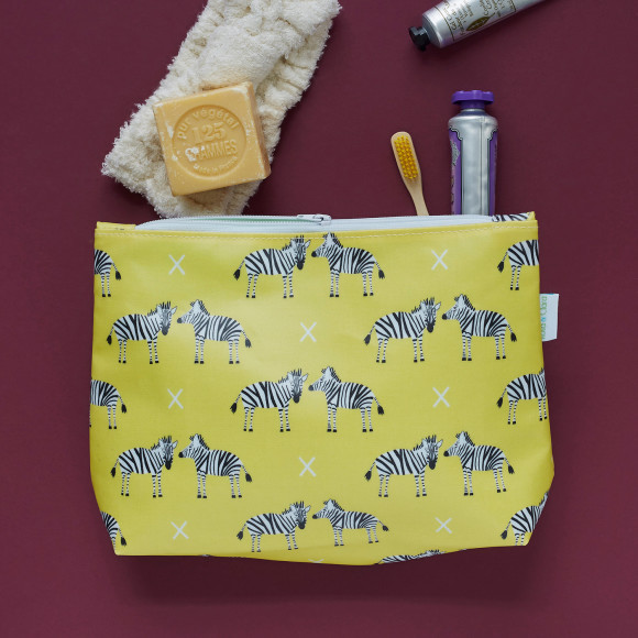 Zebras wash bag