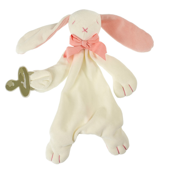 Pink Ears, Rose & Oscar Bunny Baby Soft Toy Comforter