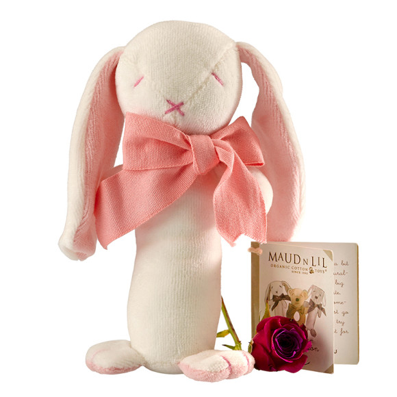 Ears, Rose & Oscar The Bunny Baby Stick Rattle