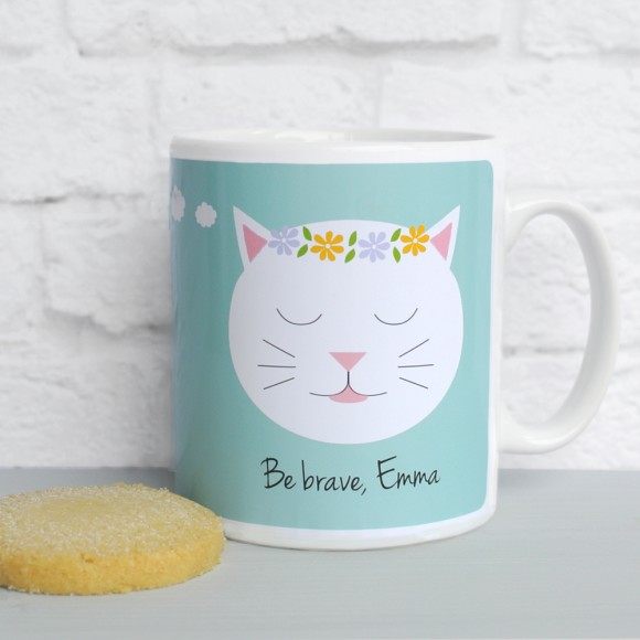 'What If I Fall?' quote mug Teal
