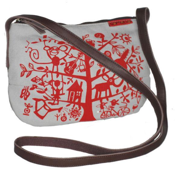Tamelia Red Tree Smile Bag