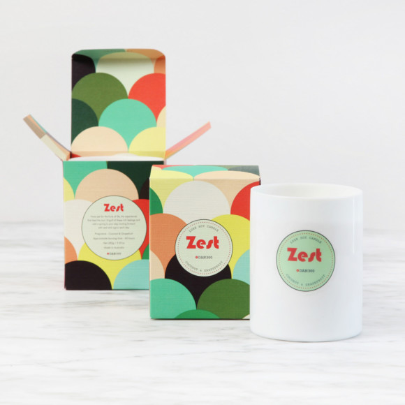 ZEST Luxe Candle : Coconut & Grapefruit