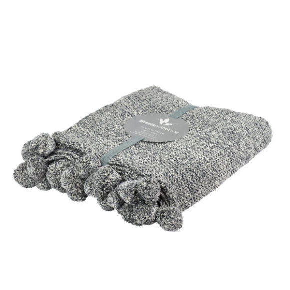 Matching throw blanket also available