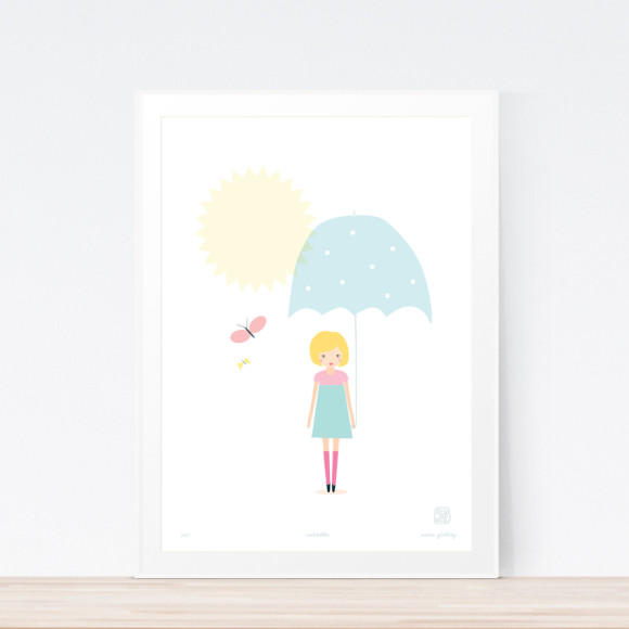 Umbrella Art Print Framed