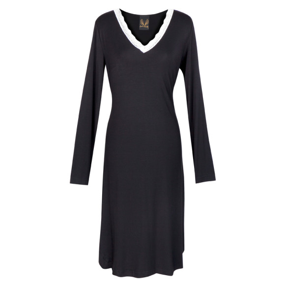 Angelic Night Dress Black
