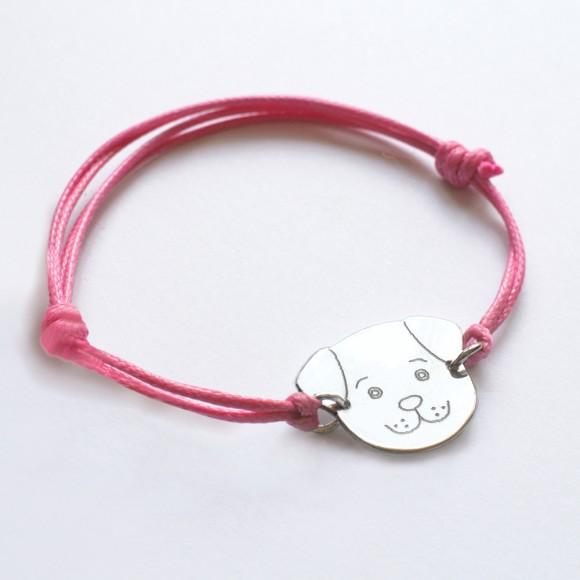 Personalised Fido bracelet pink