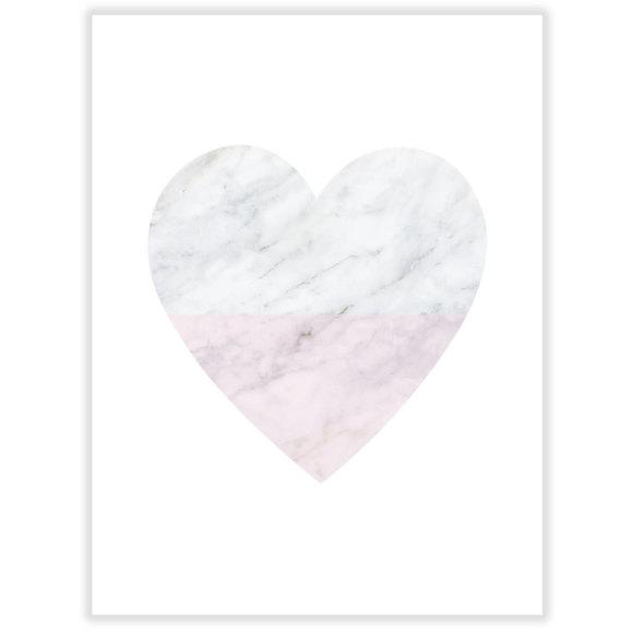 Marble Heart Art Print Hardtofind