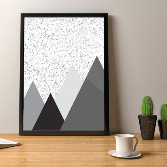 Mountain Marble Art Print Design 2