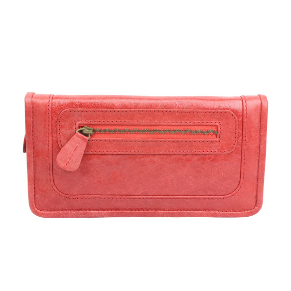 santiago ladies wallet cherry front