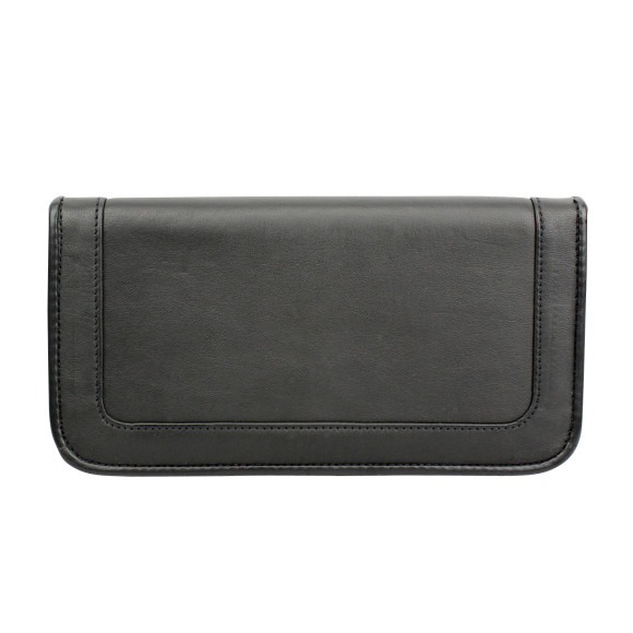 santiago ladies wallet espresso back