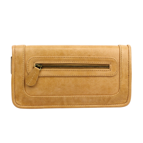 santiago ladies wallet honey front