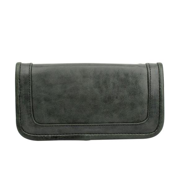santiago ladies wallet licorice back
