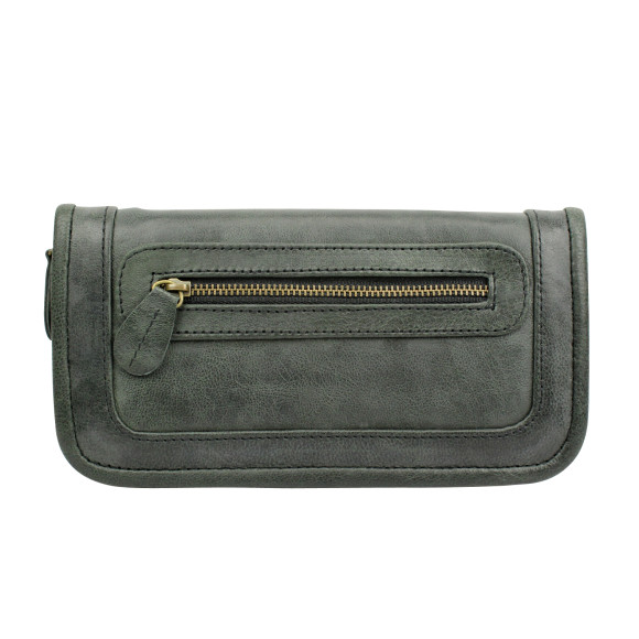 santiago ladies wallet licorice front