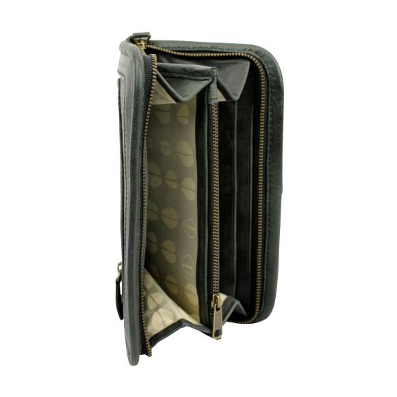 santiago ladies wallet licorice inside