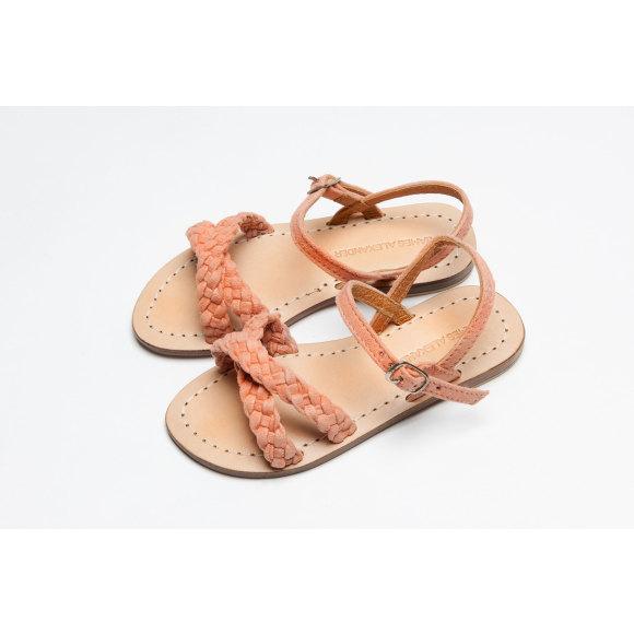 Santorini Sandal Coral Pink Suede