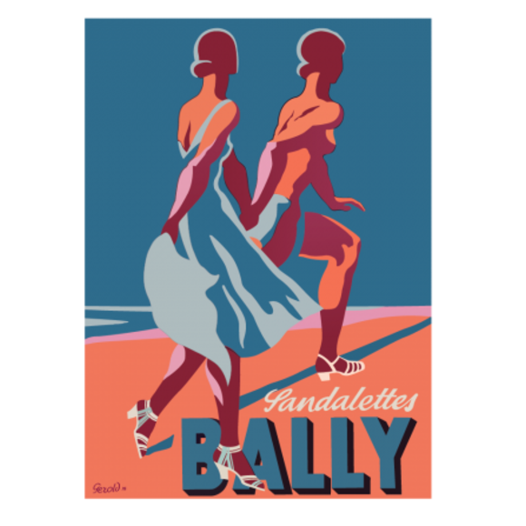 Sandalettes Vintage Poster