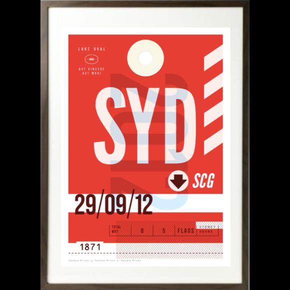 Sydney Swans luggage tag print