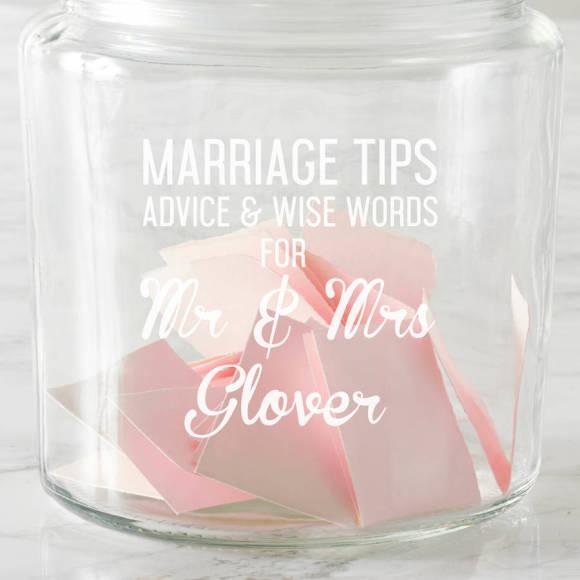 Personalised Marriage Tips Jar