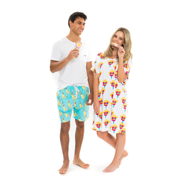 With the Men's Howzat! Beach Cricket pyjama shorts