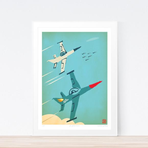 Racer jet plane (framed)