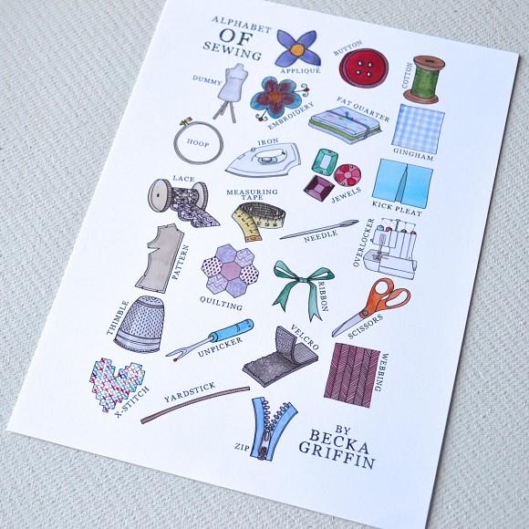 Sewing Alphabet
