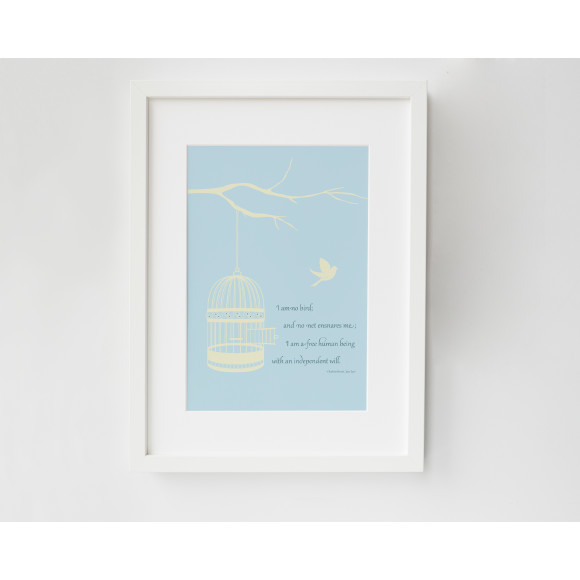 Jane Eyre literary quote art print
