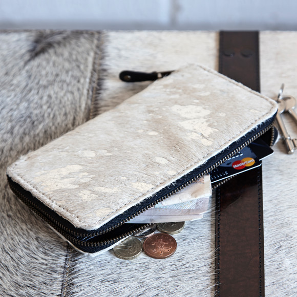 with silver leather under grey hide